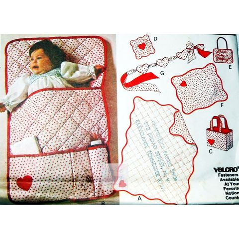 Baby,Quilt,+,Accessories,w,Embroidery.,1970s,Craft,Pattern.,Sleep,Sign.,McCalls,6191., sewinghappyplace, vintage, sewing pattern,