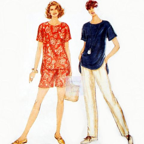 Casual,Vacation,Clothes.,Relax,Fit,Top,Pants,Shorts.,Simplicity,9032.,sewinghappyplace, Sewing Pattern, Vintage