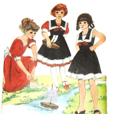 Girls,Victorian,Inspired,Dress,80s,Pattern.,Frilly,Party,Jumper,Pinafore.,McCalls,8976.,Simplicity 4863, costume sewing patterns, sewinghappyplace