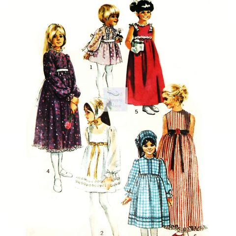 Girls,Empire,Waist,Prairie,Dress,70s,Pattern.,Wedding,,Boho,Flower,Girl.,Simplicity,9133,Simplicity 4863, costume sewing patterns, sewinghappyplace
