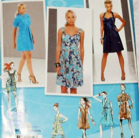Empire,Dress,w,Bodice,Variations,Pattern.,Sundress,,Sweetheart,Neckline,,Halter,Dress.,Simplicity,2694,sewinghappyplace, Sewing Pattern, Vintage
