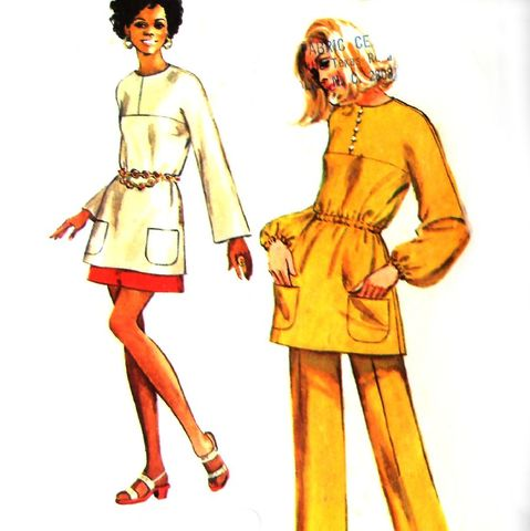 Kimono,Sleeve,Tunic.,Pants,Skirt.,1970s,Pattern.,Mod,Retro.,Casual,Separates.,sewinghappyplace, Sewing Pattern, Vintage