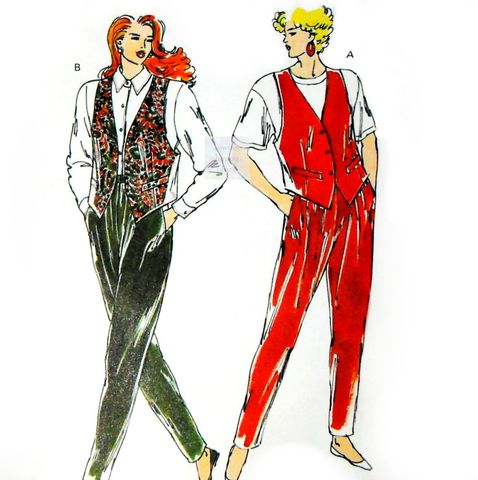 Knit,Separates,Vest,Pants,1980s,Pattern.,Loose,Fit.,Casual,Comfort.,Kwik,Sew,1937,sewinghappyplace, Sewing Pattern, Vintage