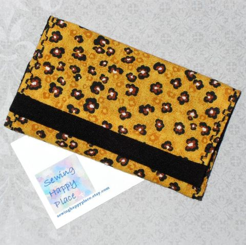 Spotty,Leopard.,Fabric,Gift,Card,Wallet.,Business,Holder.,Mini,sewinghappyplace, Fabric, Gift Card, Wallet, Business Card Holder, Mini Wallet, purse tea cozy, sweetener purse pack, shpf
