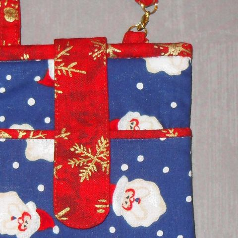 Padded,Fabric,Cell,phone,Iphone,case.,3,Pockets.,Gadget,Wallet.,Santa,Christmas,theme.,sewinghappyplace, fabric phone case, cell phone case, iphone case, android case, samsung case, gadget case, camera case.