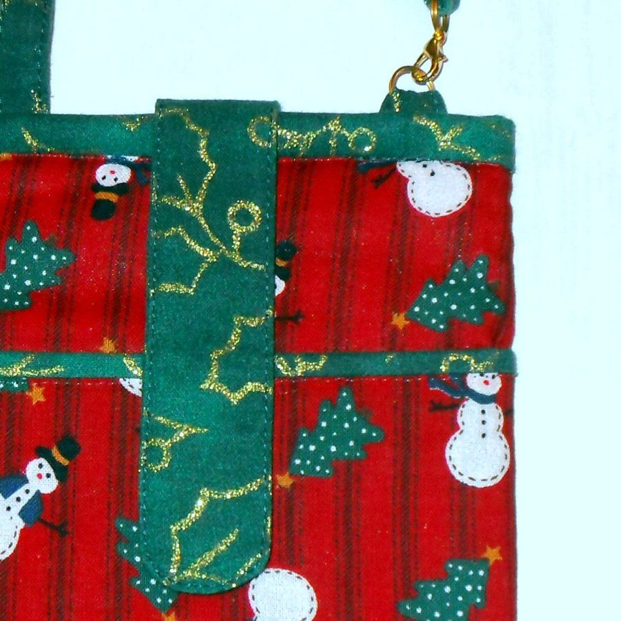 Let It Snow Padded Fabric Cell phone Iphone case. 3 Pockets. Gadget Wallet.  - product images  of