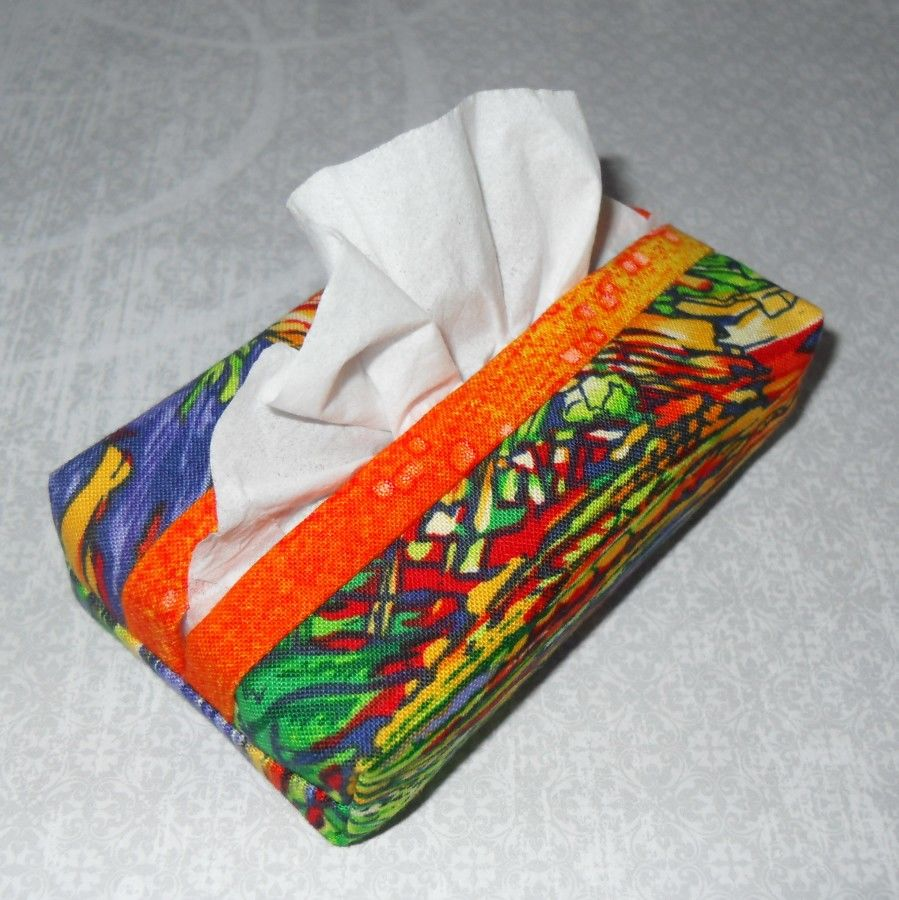 Orange Kist Boxy Pocket Purse Tissue Case. Ecofriendly. Travel Tissue Cozy. Fits Purse Pack. - product images  of