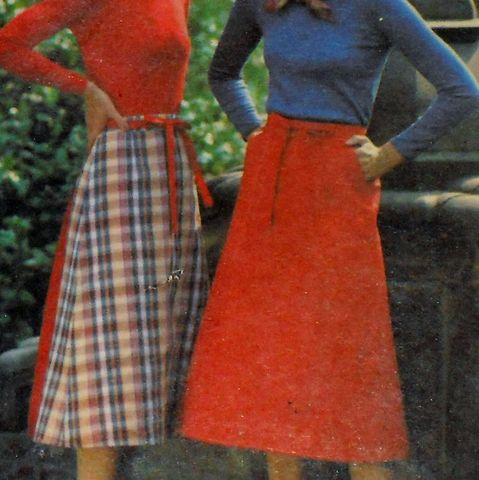 Reversible,Wrap,Skirt.,1970s,Pattern.,Large,Pockets.,Uncut,FF.,Preppy,Traditional.,sewinghappyplace, Sewing Pattern, Vintage