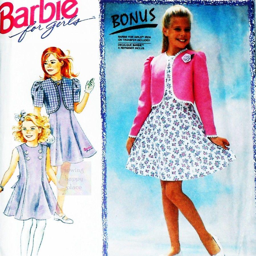 Girls Special Occasion Jacket Dress 80s Pattern. Aline Princess ...