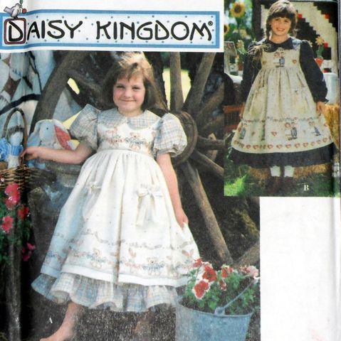 Toddler,Girls,Fancy,Frilly,Dress,w,Pinafore.,90s,Pattern.,Special,Occasion.,sewinghappyplace, Sewing Pattern, Vintage