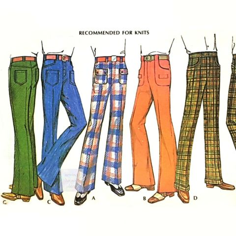 Mens,Pants,1970s,Pattern.,Jeans,or,Classic,Cut.,Straight,Flare,Leg.,McCalls 3436, Vintage, 1970s, Sewing Pattern, Mens Pants, Trousers, Jeans, Classic Cut, Straight Leg, Flare Leg, sewinghappyplace