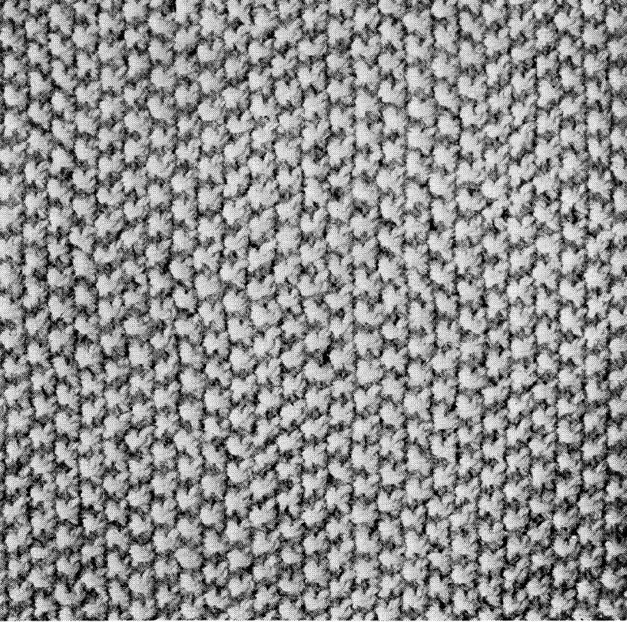 Pattern - Unique Knitting Stitch Sampler Turtorial 1940s Popular Stitches - 9 different variations - PDF or Printed and Mailed - product images  of