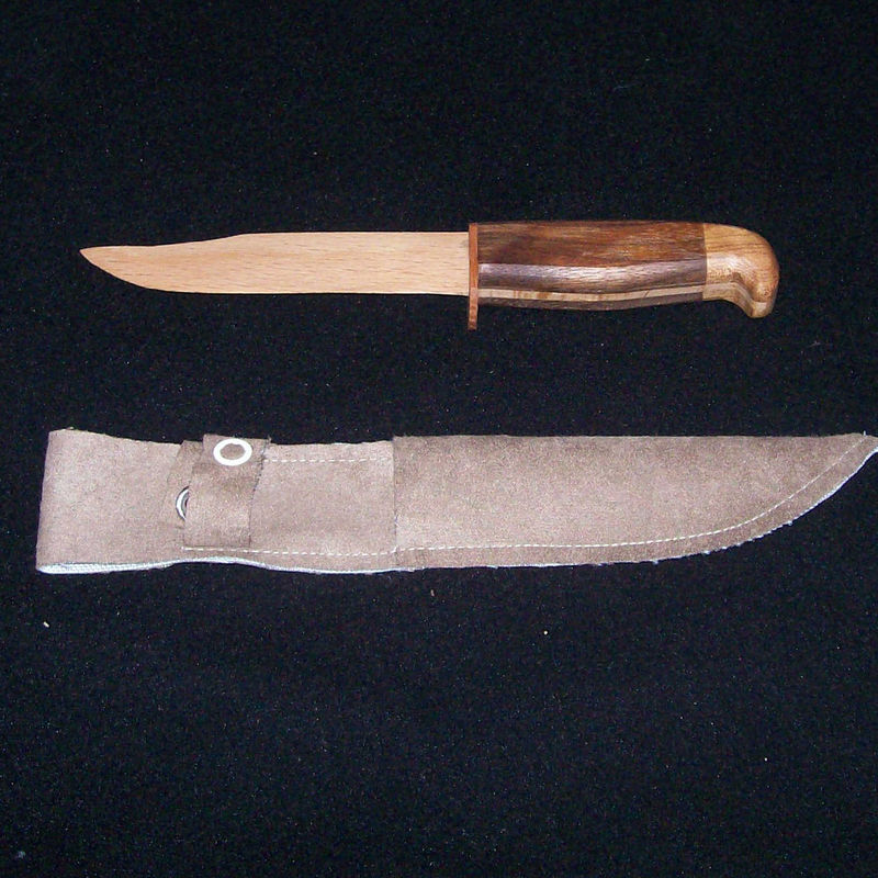 Hunting knife hardwood letter opener with sheath - product images  of