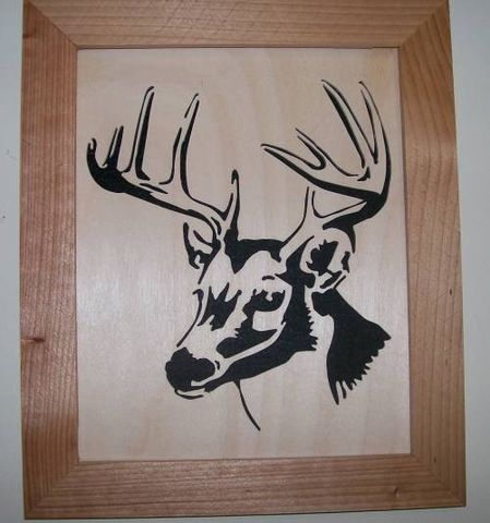 Whitetail,buck,in,wood,scroll,saw,picture,,woodcut,art,fretwork,wall_hanging,picture,portrait,wildlife,animal,deer,whitetail,whitetail_deer,trophy,birch,cedar,felt