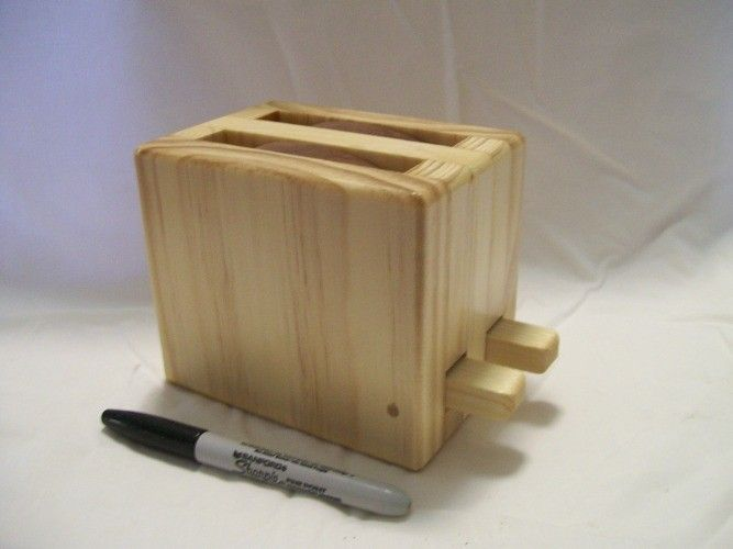 Toy Wooden toaster cute handmade kitchen appliance - product images  of