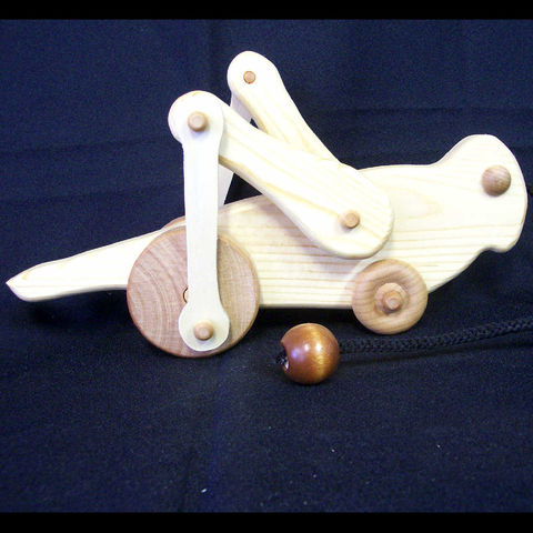 Handmade,wooden,animated,grasshopper,pull,toy,Toys, Pretend, Puppet, animal, waldorf, insect, bug, pull_toy, pine, maple, cord