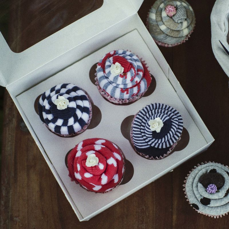 Sock Cupcake Box (4) - product images  of