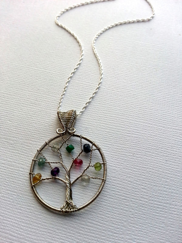 handmade jewelry near me custom birthstone necklace s family tree necklace 2807