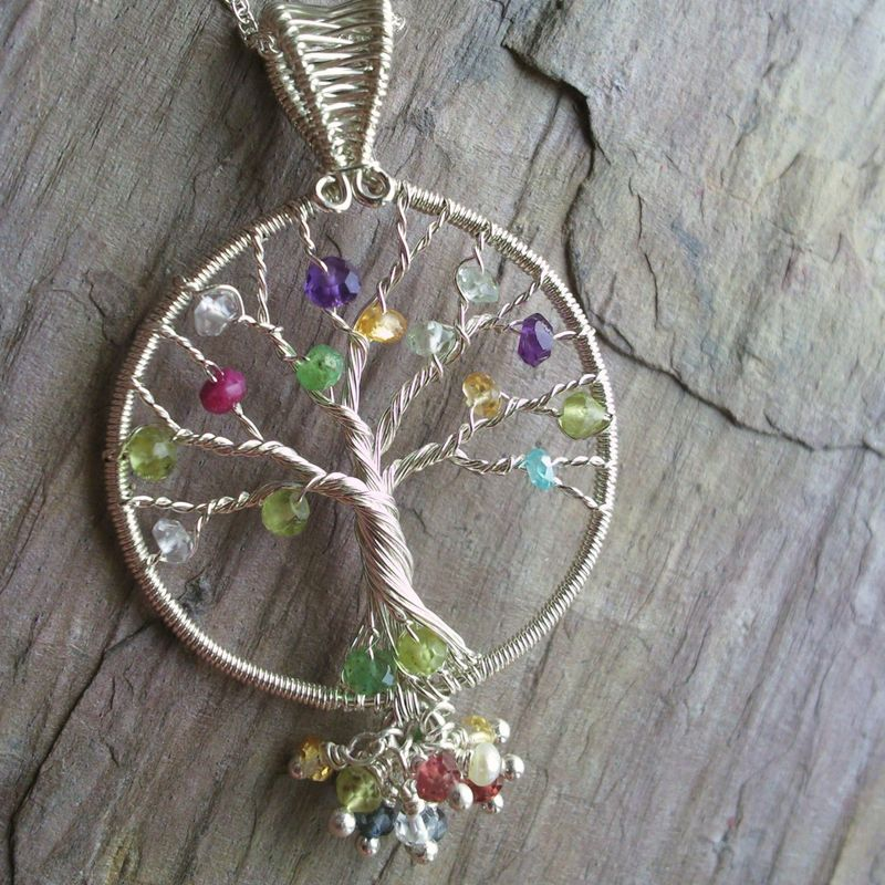 handmade jewelry near me generations tree of necklace sterling silver family 5041