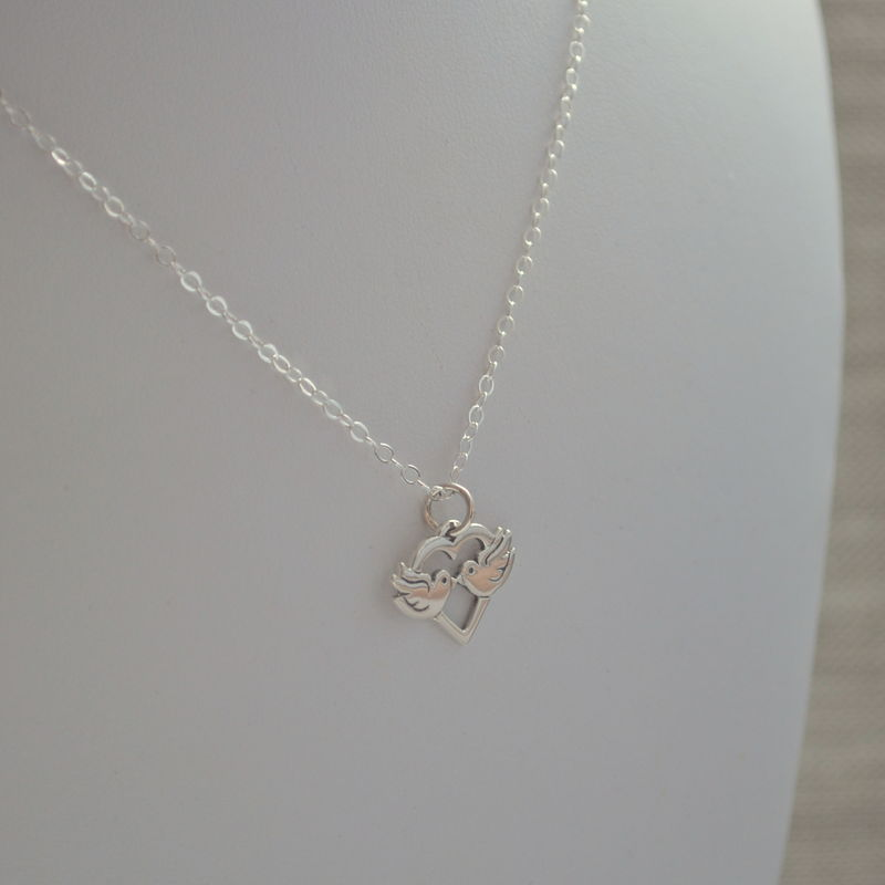 Lovebirds Necklace in Sterling Silver for Children - product images  of