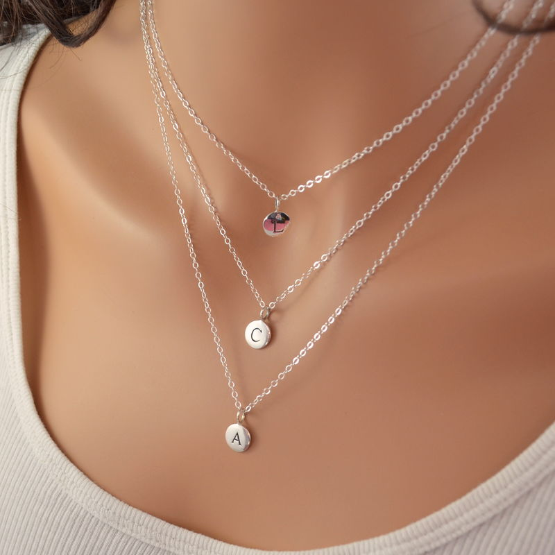 Initial Family Necklace Set in Sterling Silver - product images  of