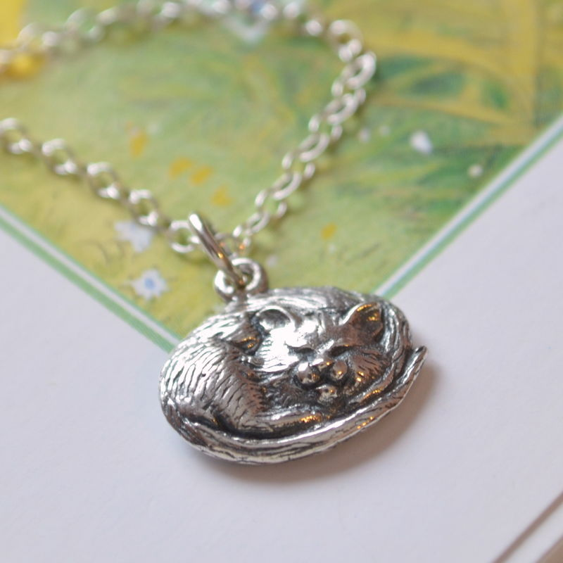 Cat Necklace for Girls in Sterling Silver - product images  of