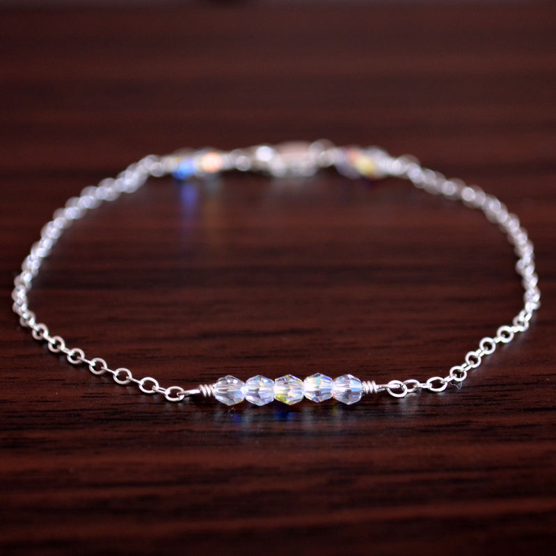 Swarovski Crystal Row Bracelet in Sterling Silver - product images  of