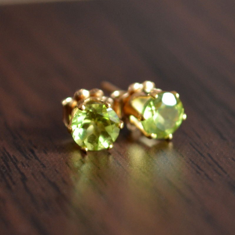 Peridot Studs in Gold - product images  of