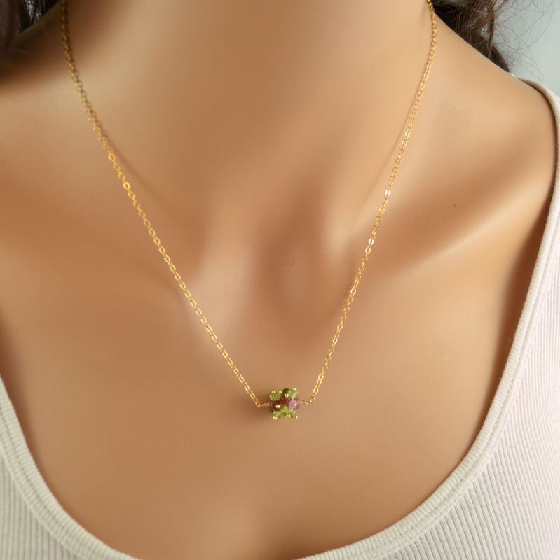Holiday Cluster Necklace in Gold - product images  of