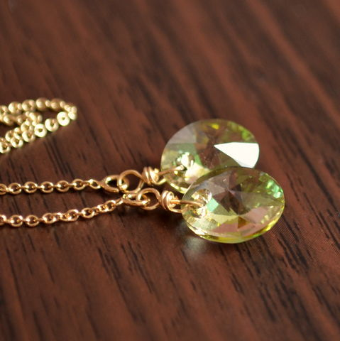 Pale,Green,Crystal,Threader,Earrings,in,Gold,crystal earrings, crystal threaders, gold threaders, long gold earrings