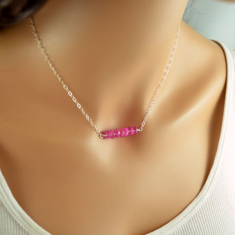 Pink,Topaz,Choker,Necklace,in,Sterling,Silver,pink topaz necklace, pink topaz choker, pink topaz jewelry, gemstone choker, pink choker, silver choker