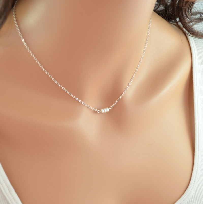 Sterling Silver Choker Necklace - product images  of