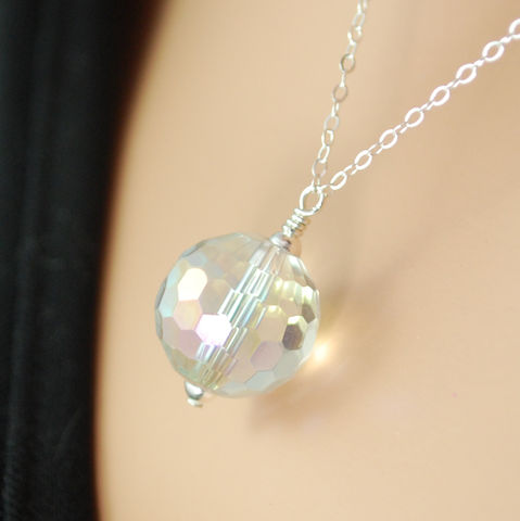 Crystal,Ball,Necklace,Sterling,Silver,Jewelry,Wire_Wrapped,sterling_silver,gemstone,gemstone_necklace,gemstone_jewelry,jewellery,crystal_ball,crystal_necklace,crystal_ball_jewelry,rock_crystal,crystal_quartz,disco_ball,mystic,holiday