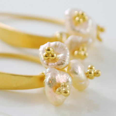 Peach,Keishi,Pearl,Earrings,Trio,Gold,Jewelry,gold_filled,freshwater_pearl,vermeil,jewellery,pearl_earrings,feminine,keishi_pearl,keshi_pearl,peach,neutral,pale,gold_jewelry,gold_earrings,gold_fill,gold_vermeil