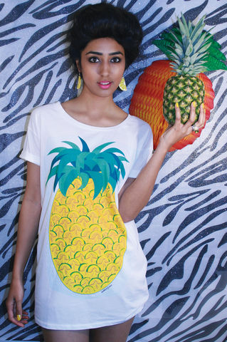 Giant,Pineapple,T-Shirt,sweatshirt, pineapple,fruit, t-shirt, Illustrated, Dazzle, Jungle, Dazzle and Jolt, Geometric, Fashion