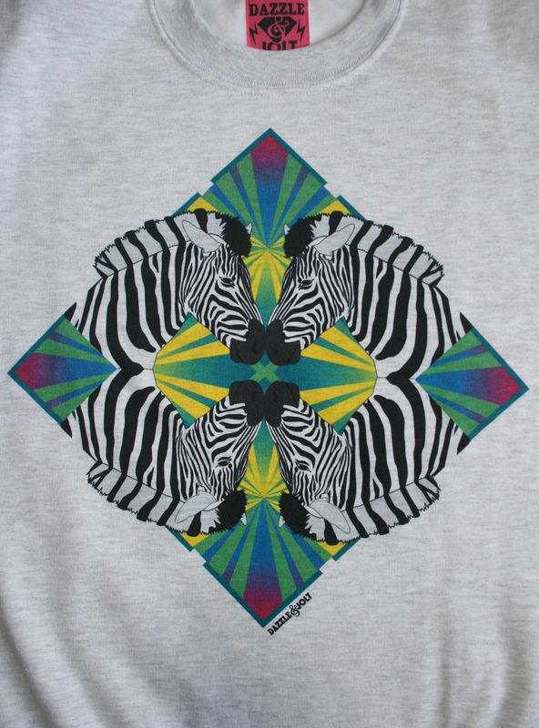 Zebra Geometric Jungle Sweatshirt - product images  of