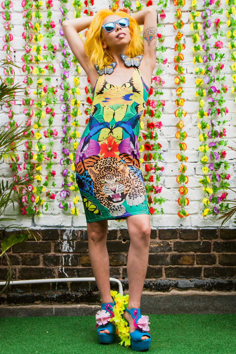 Jungle Fever Bodycon Dress - product image