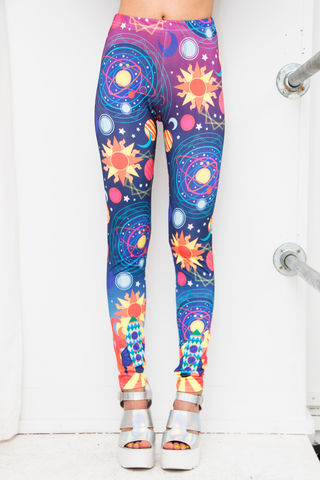Out,of,this,World,Leggings,leggings, space, cosmic, intergalactic, print, out of this world, rocket, planets, coord, co-ord, futuristic, graphic, dazzle and jolt