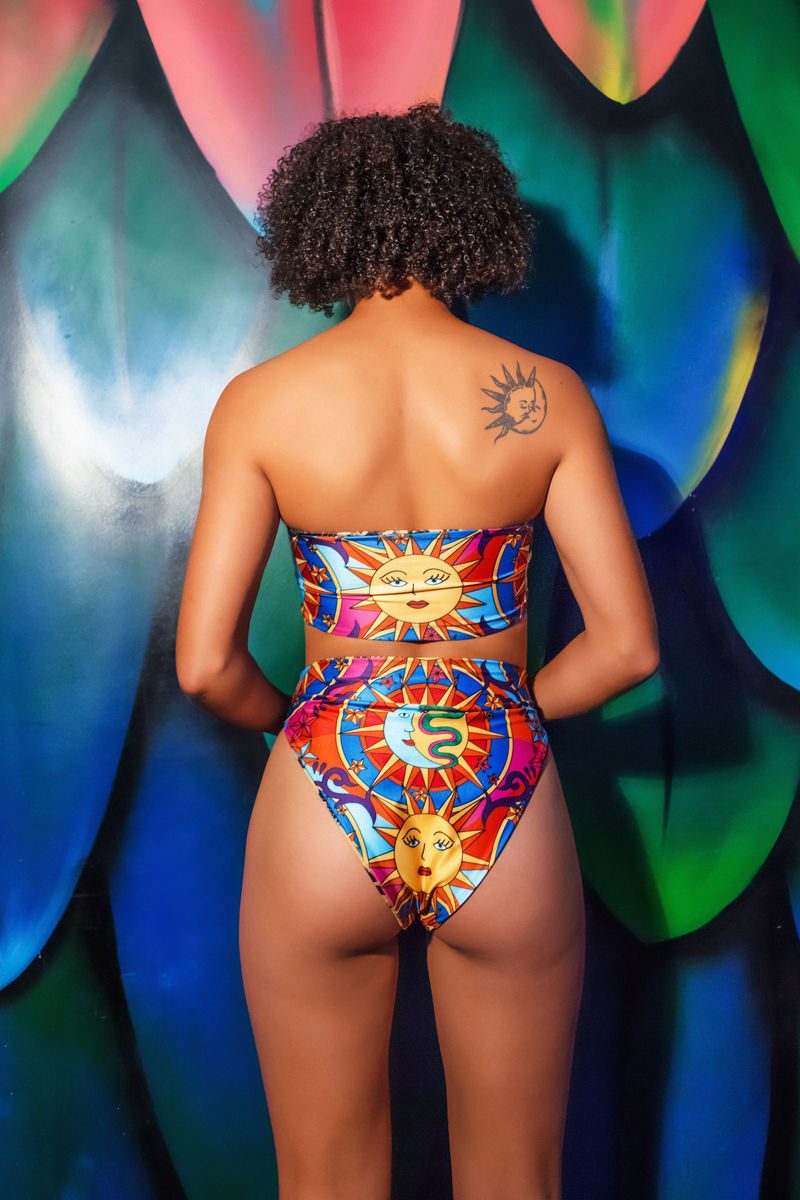 DAZZLE & JOLT X LOONIGANS - Reversible High Rise Bikini Bottom - AVAILABLE IN 3 PRINTS  - product images  of