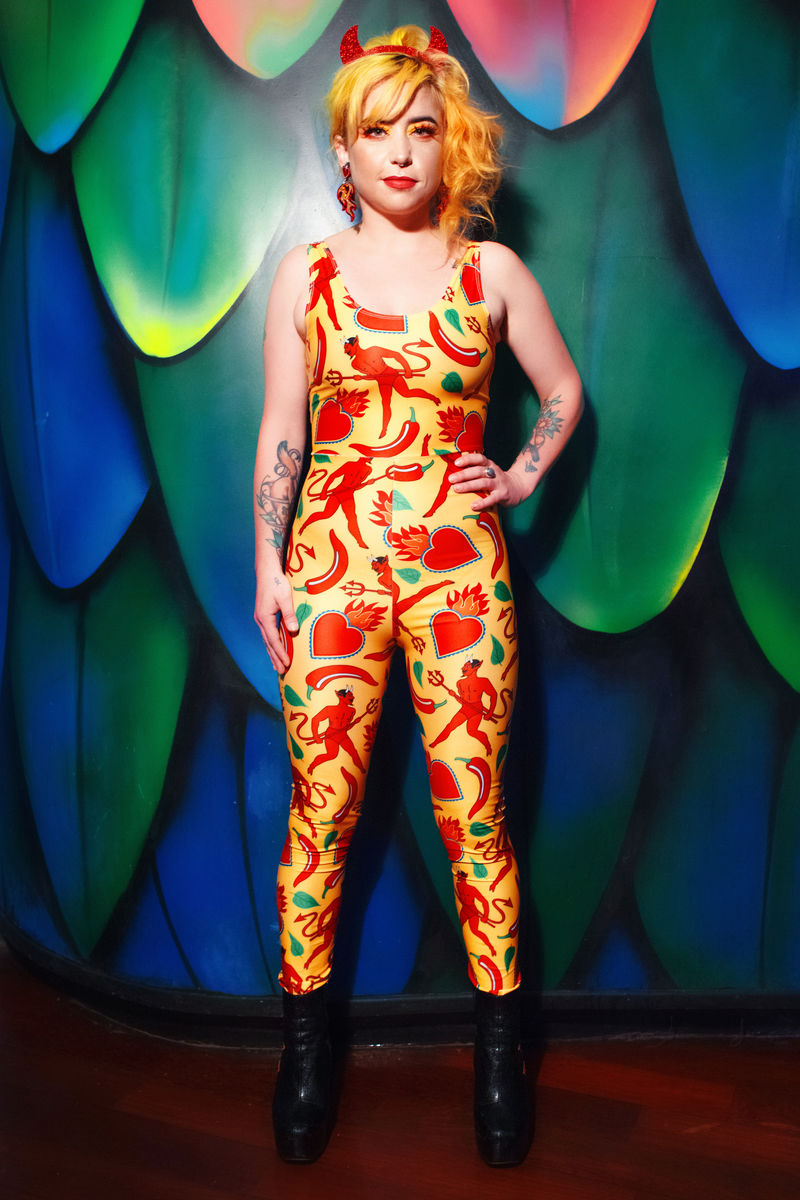 Danza del Diablo Catsuit - Eco Lycra  - product images  of
