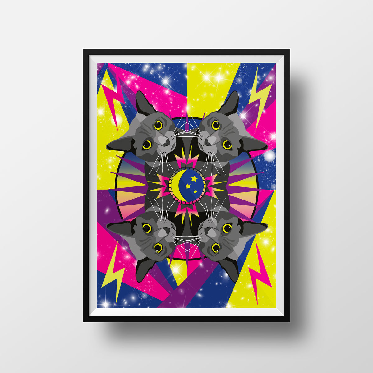 Cosmic Cat Giclée Print - product image