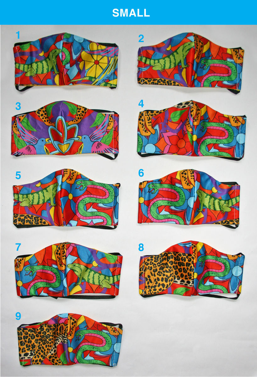 Face Masks - Jaguar Jungle print - product images  of