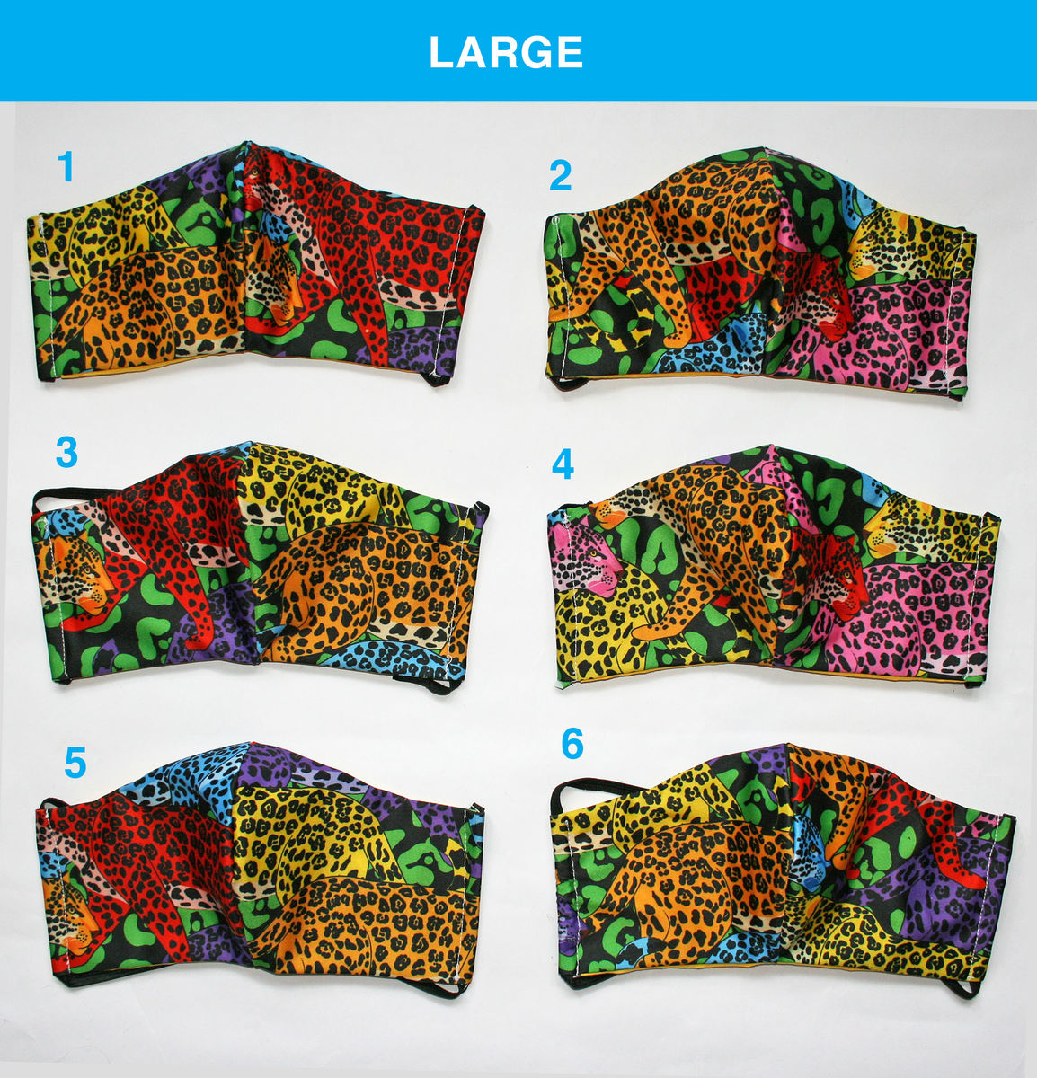 Face Masks - Rainbow Jaguar print - product images  of