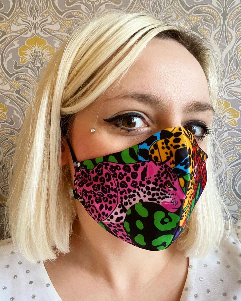 Face Masks - Rainbow Jaguar print - product image