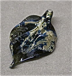 Handmade Glass and Silver Leaf Pendant Bead - product images  of