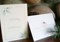 Christmas 3 Card Set - Hand Embroidered - product images 1 of 5