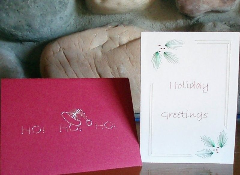Christmas 3 Card Set - Hand Embroidered - product image