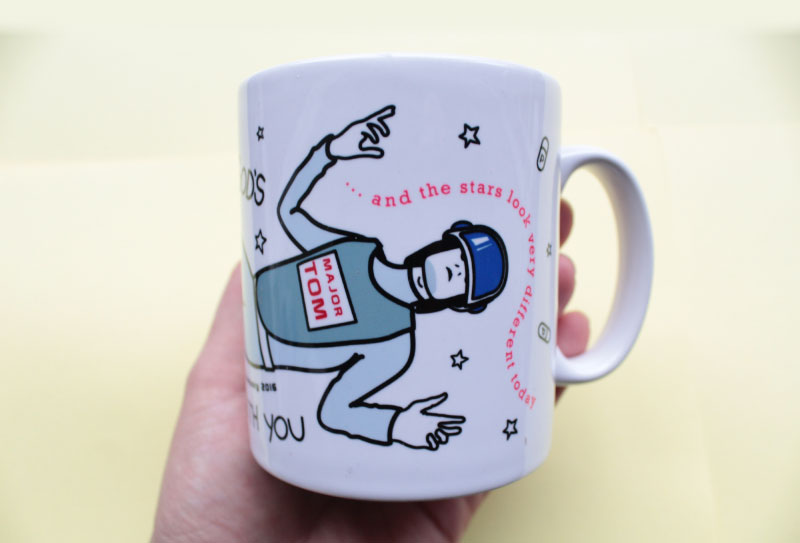 A David Bowie Tribute Mug Major Tom