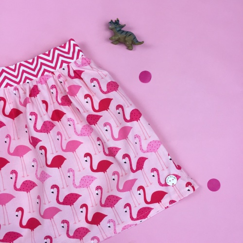 Flamingo print skirt