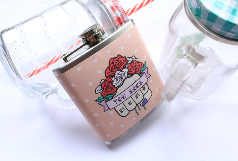 Mum hip flask rockabilly style